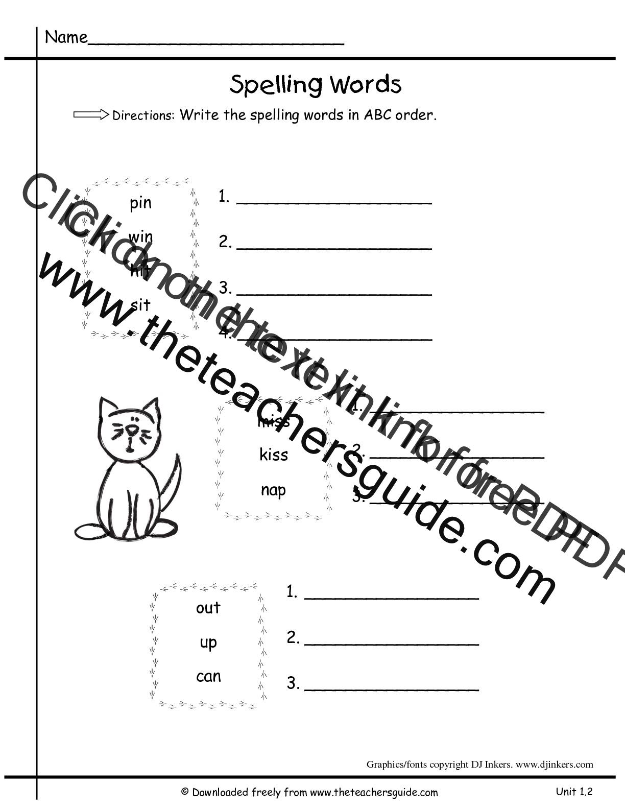 Wonders First Grade Unit One Week Two Printouts