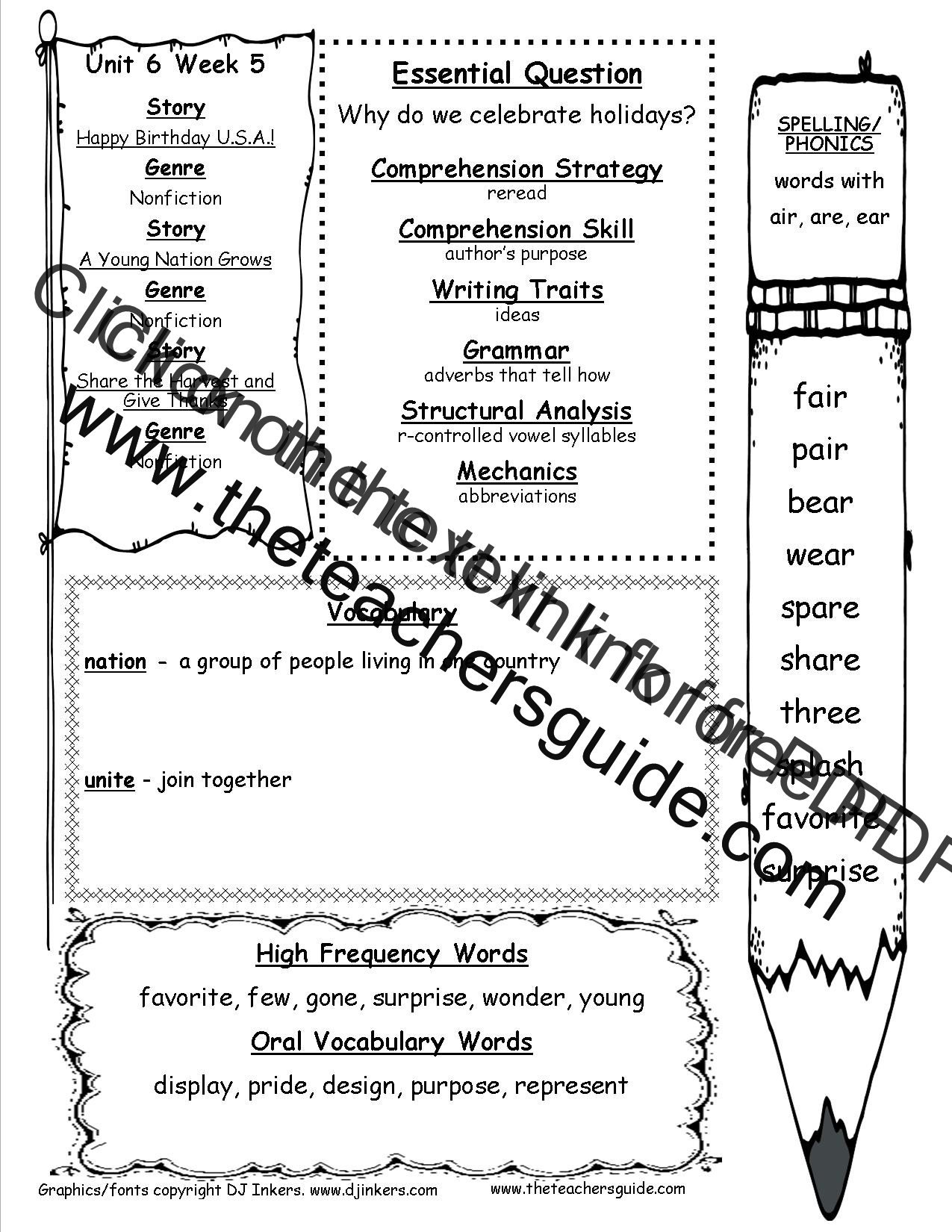 Mcgraw Hill Wonders First Grade Resources And Printouts