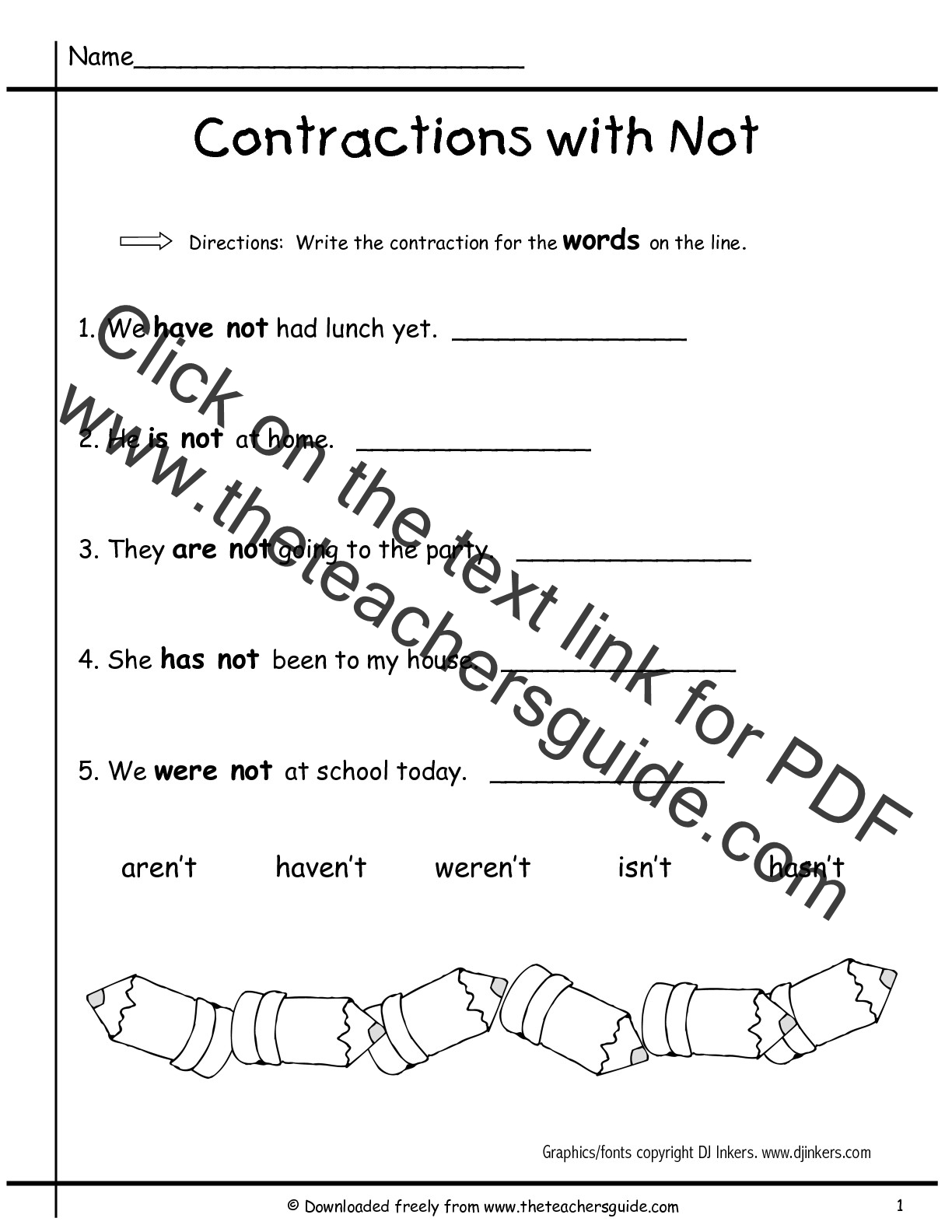 Search Results For Contraction Words Worksheets Calendar
