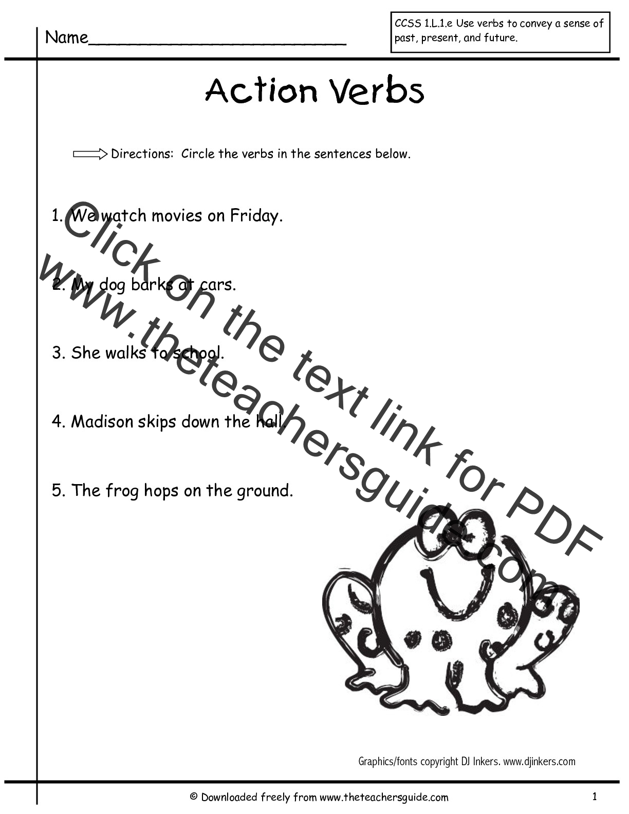 Ing Worksheet For Grade 1