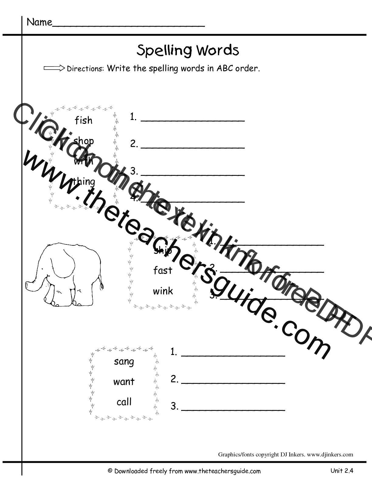 Wonders First Grade Unit Two Week Four Printouts