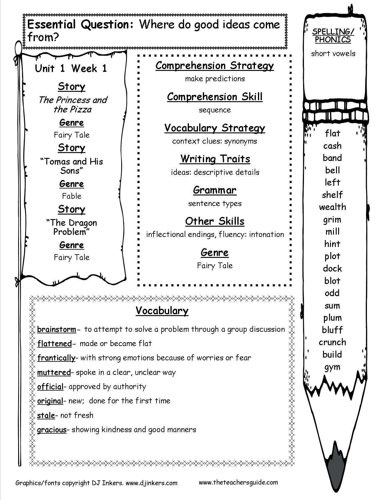 Volcano Worksheet Grades 1 5