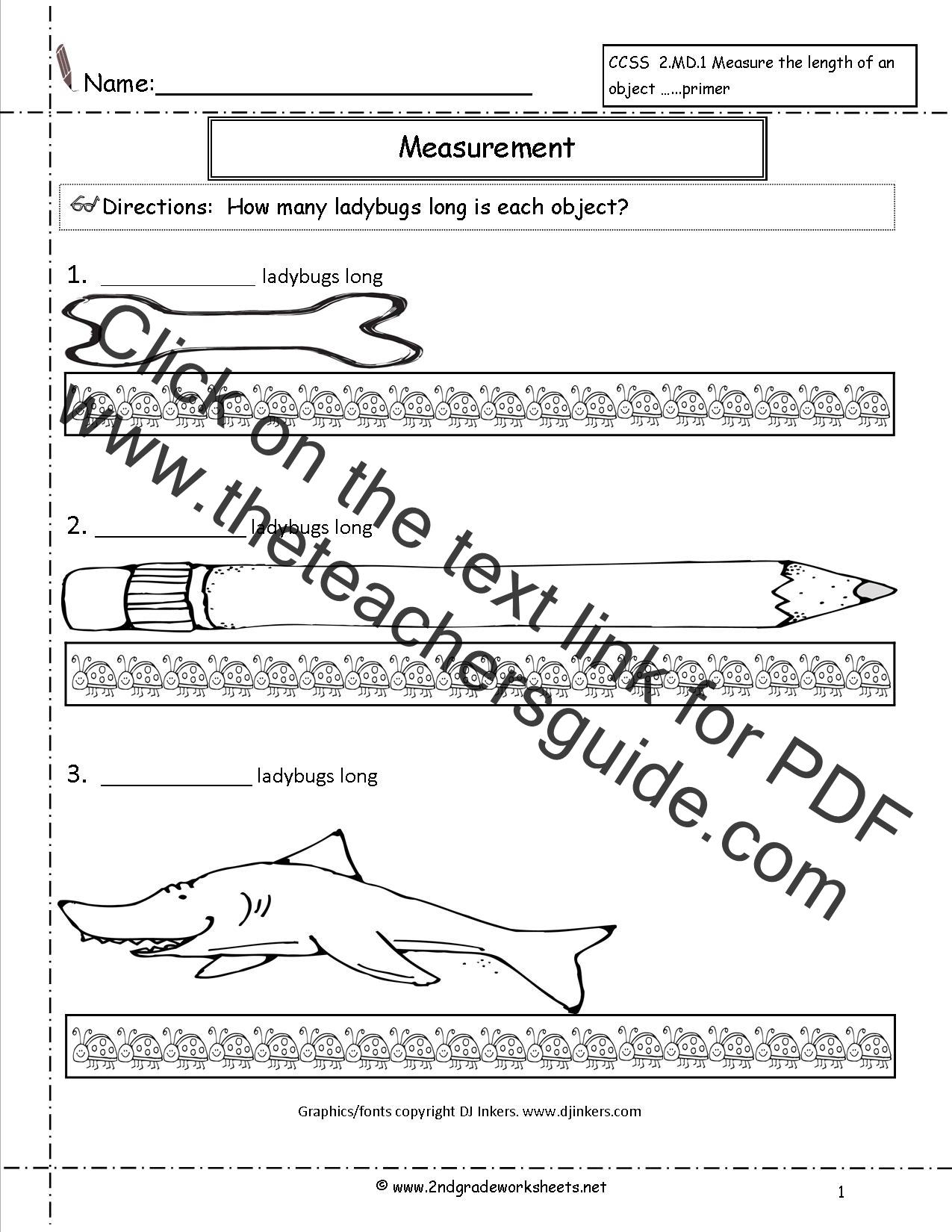 Easy Measurement Worksheet