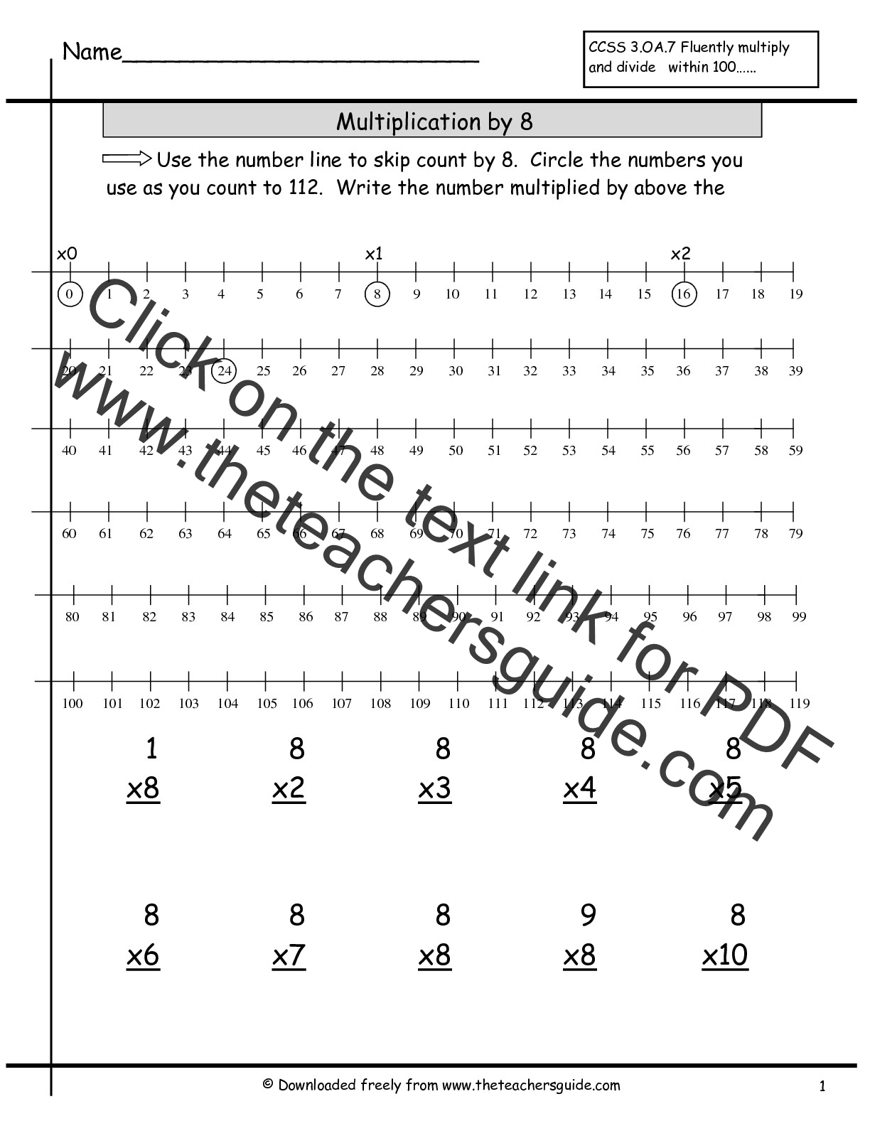 Multiplication Facts Worksheets From The Teacher S Guide