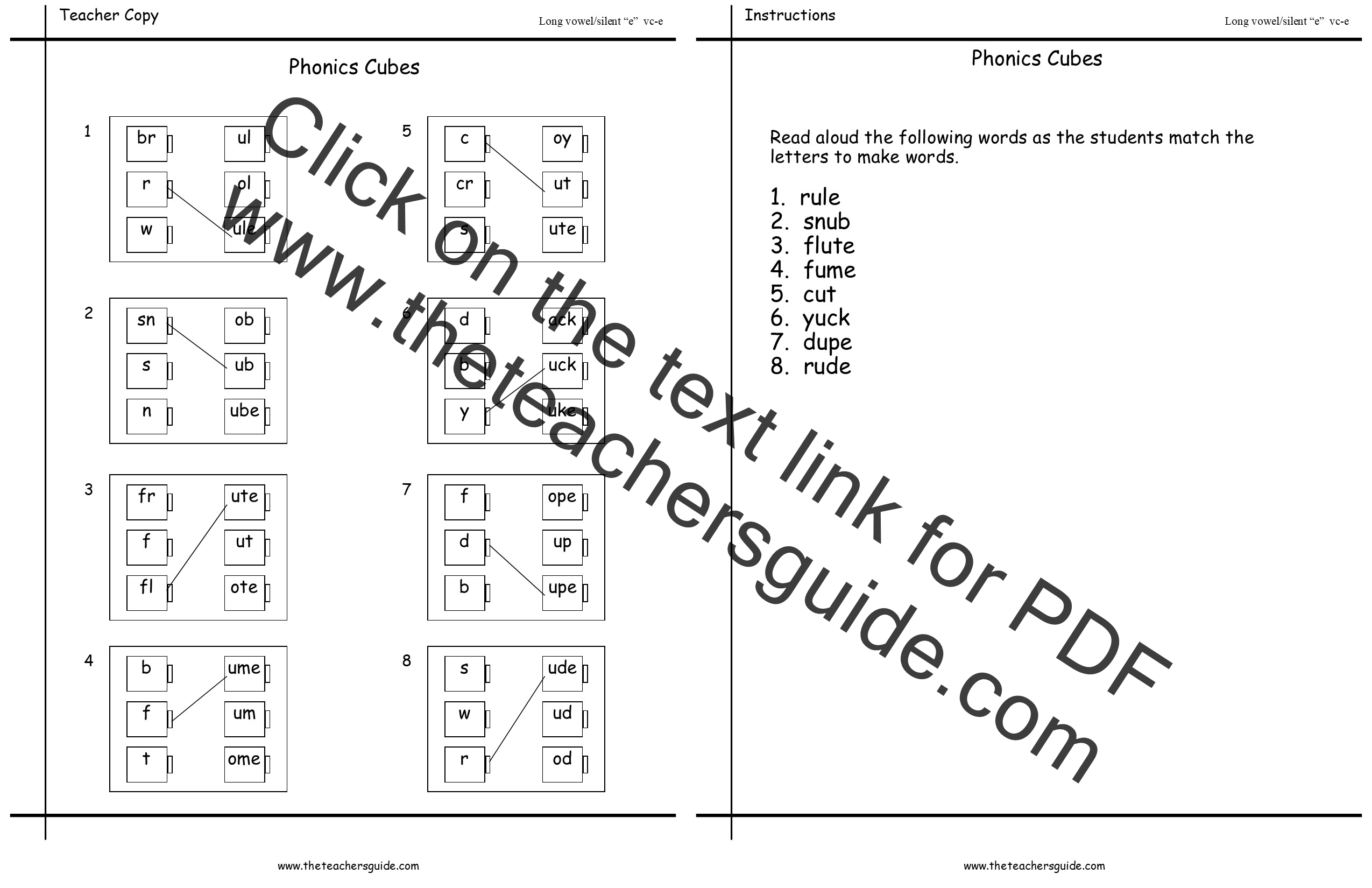 Printable Worksheet For Grade 1 Phonics