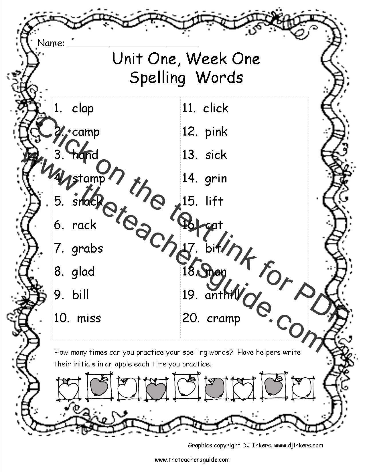 Spelling Lessons For 3rd Graders