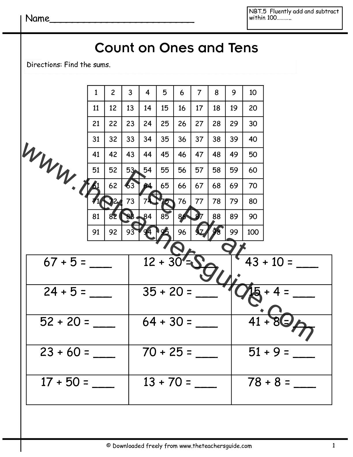 Two Digit Addition Worksheets From The Teacher S Guide