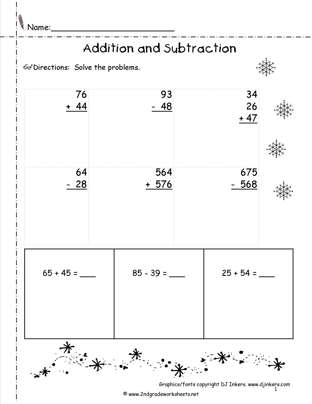 Winter Worksheets For Third Grade
