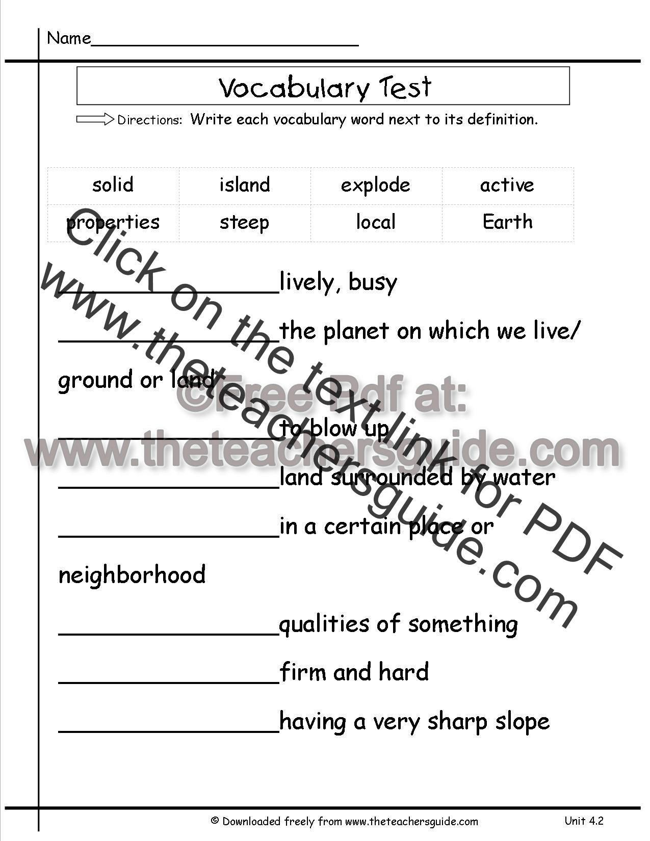 Wonders Second Grade Unit Four Week Two Printouts