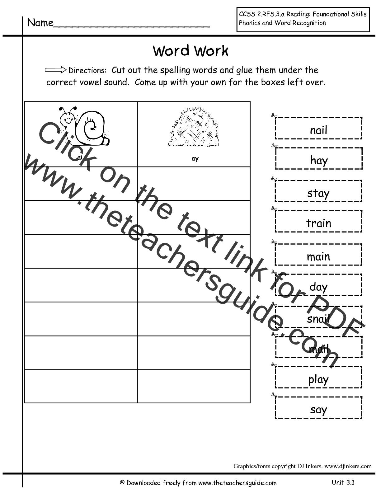 Spelling Words For Second Grade Worksheets Ratchasima