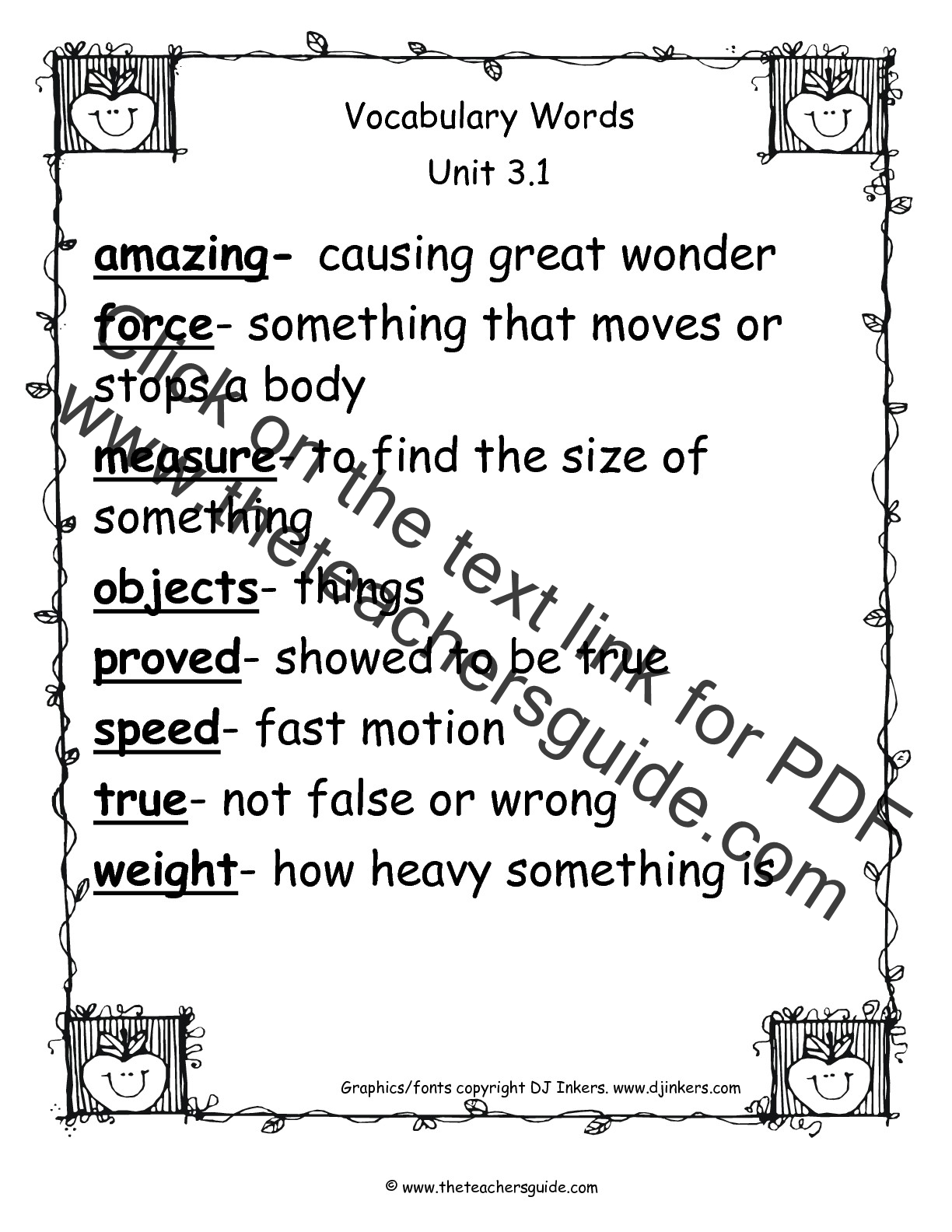 Vocabulary Worksheets 2nd Grade