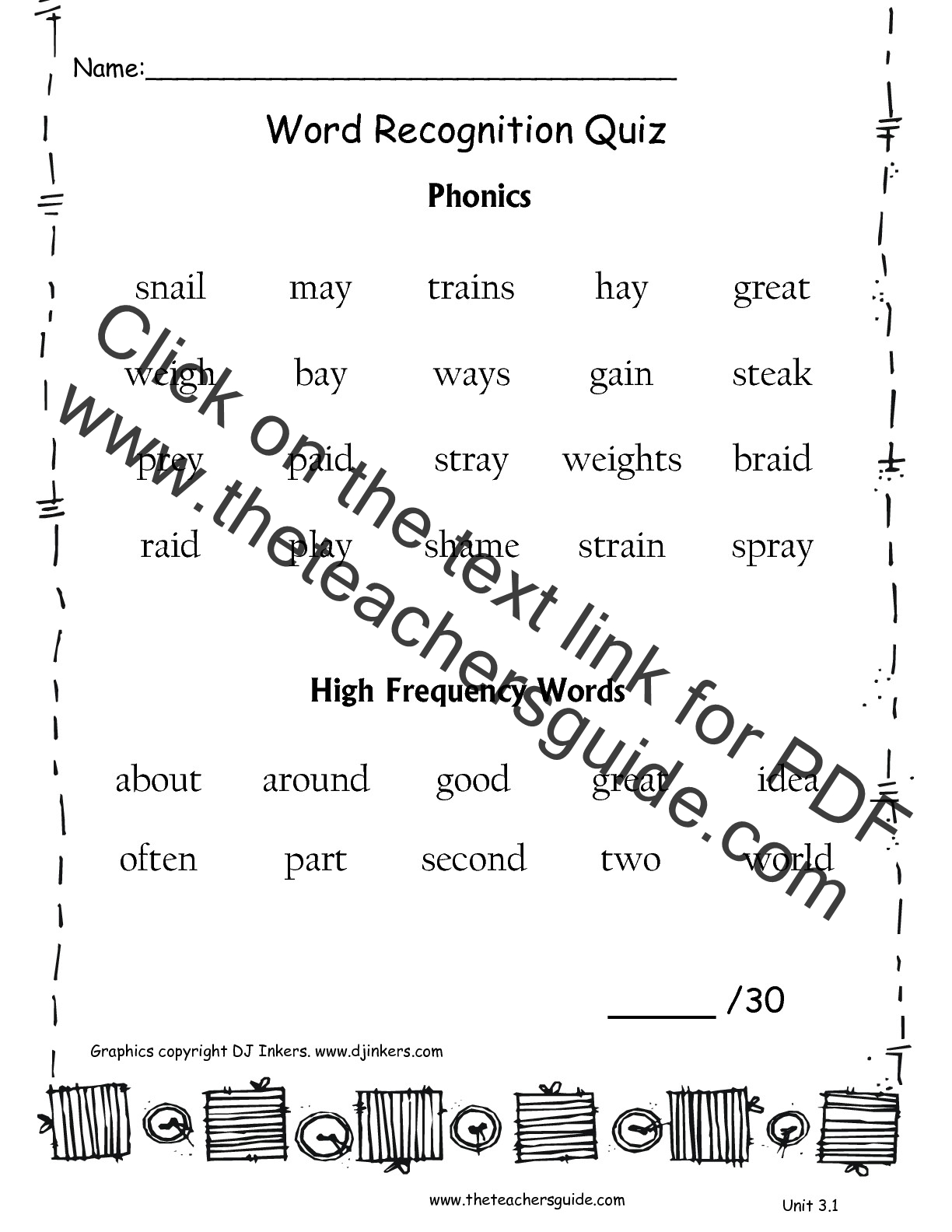 Wonders Second Grade Unit Three Week One Printouts