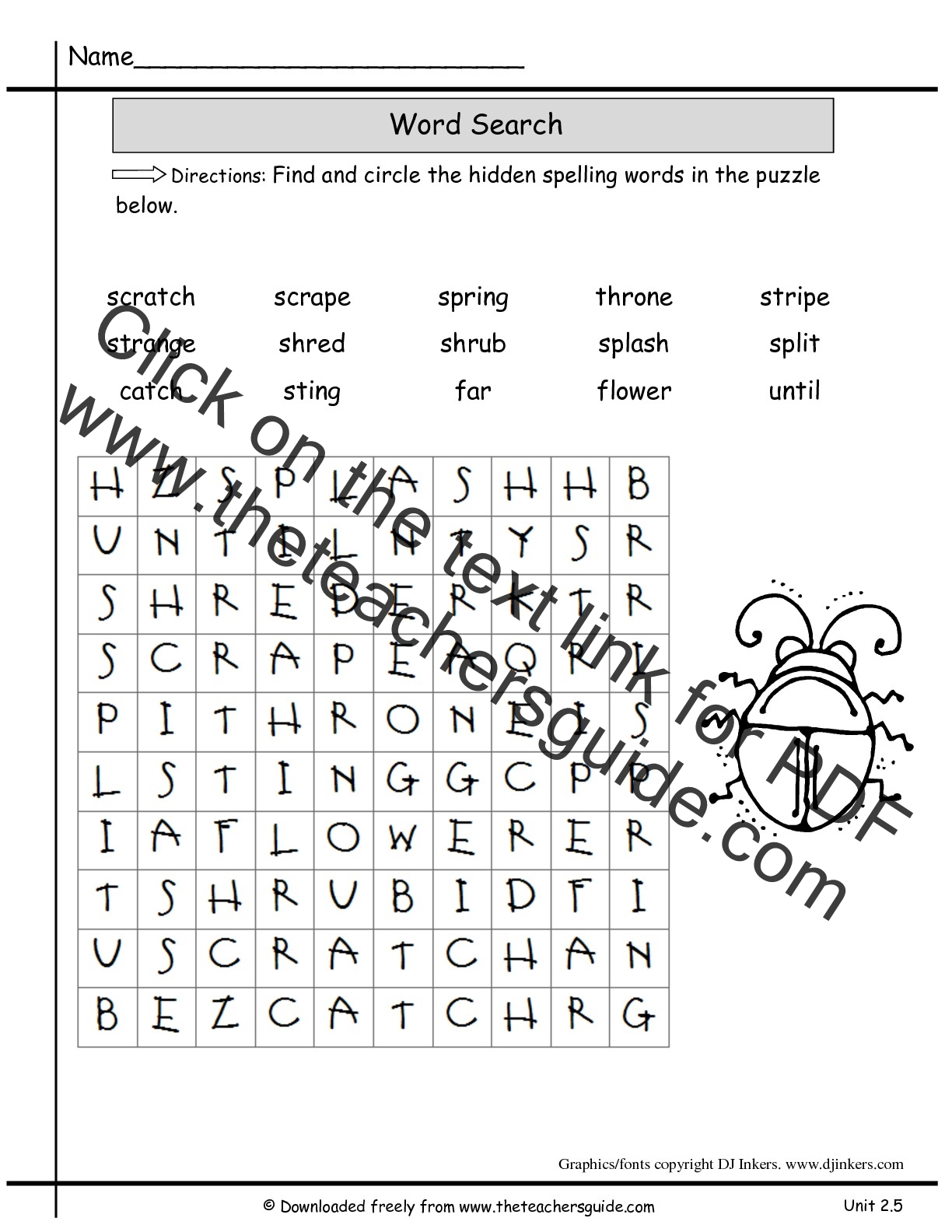 2nd Grade Word Search Printable That Are Bright