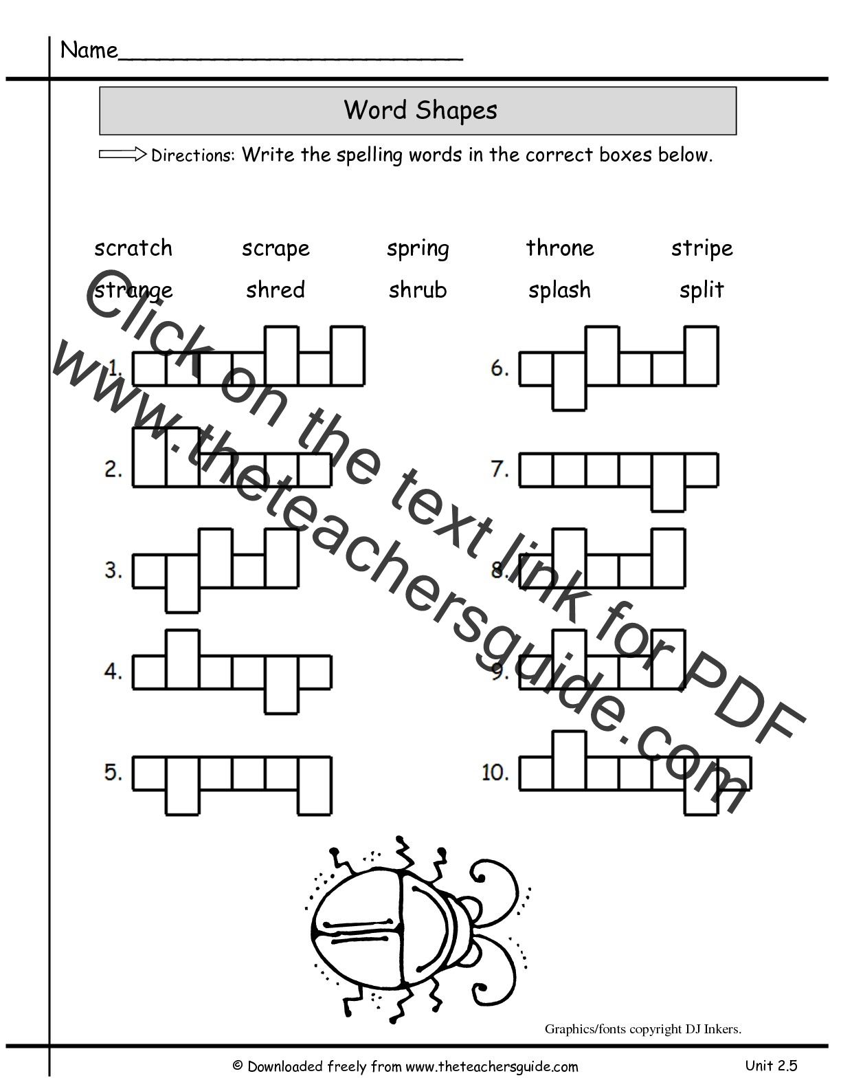 Worksheet Shape Week