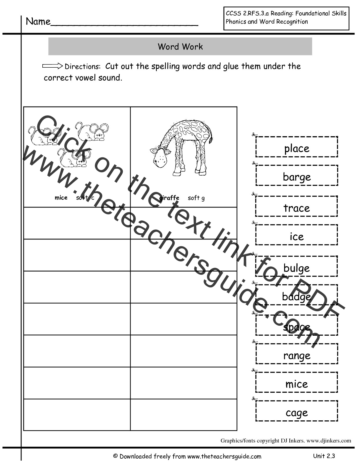 2nd Grade Spelling Words Worksheet