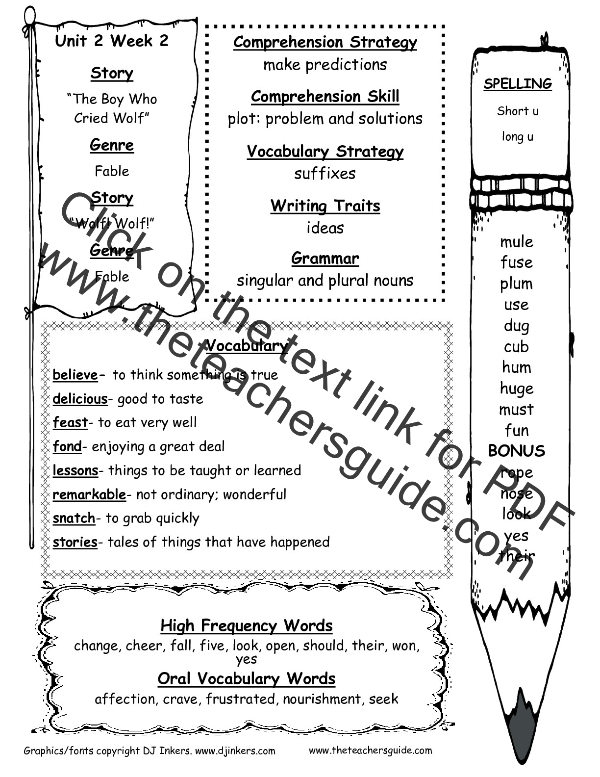 Reading Wonders Study Guides