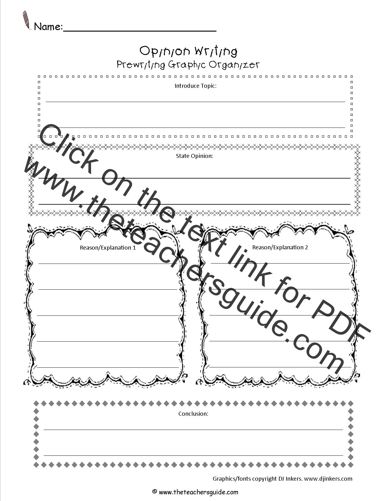 Worksheet Opinion Sheet