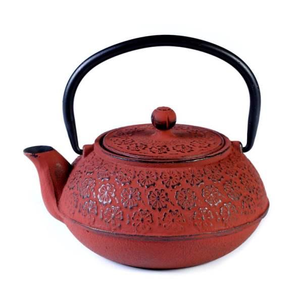 Cast iron pot red 600ml