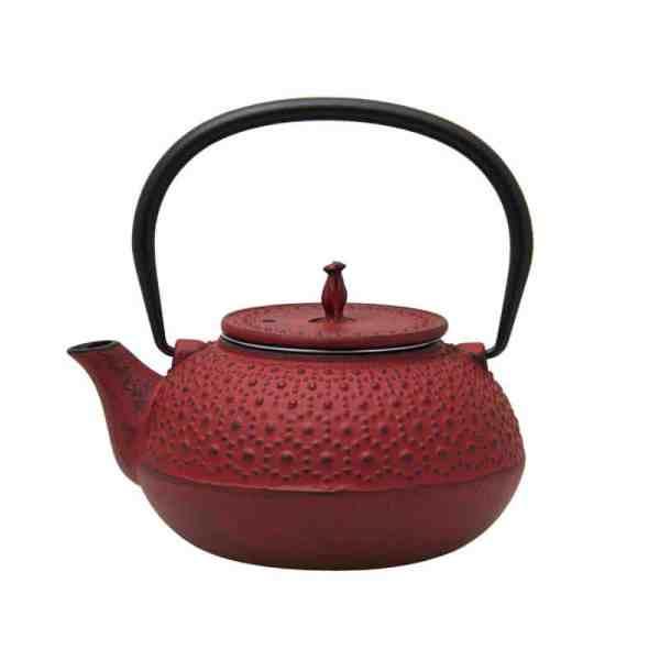Cast Iron Teapot - Red - 600ml