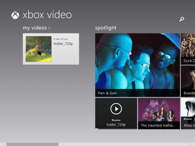 xbox video app for windows 8