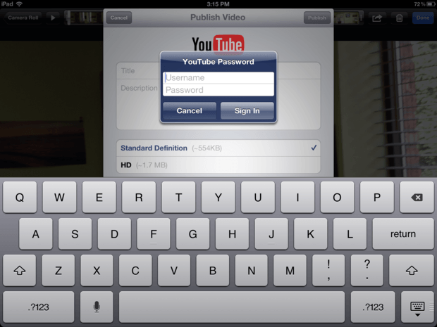 Sign-into-youtube-on-your-new-iPad
