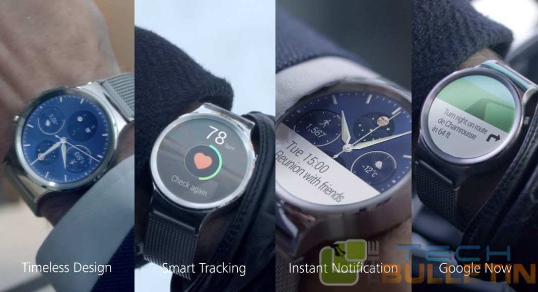Various operations of Huawei Android Wear