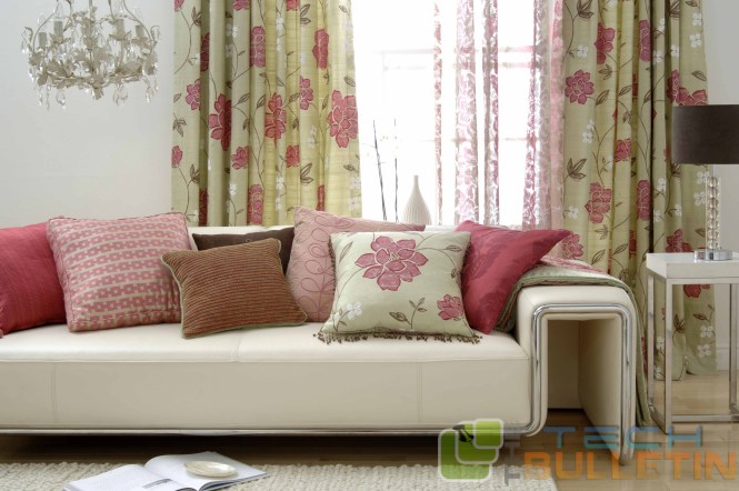 Sofa-pillow-screen-curtain