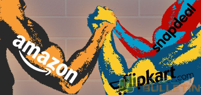 Amazon, snapdeal and flipkart
