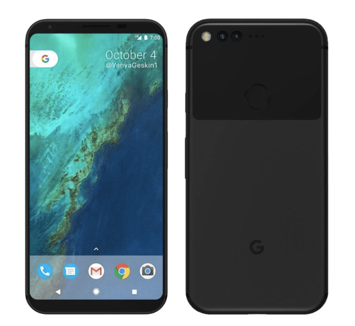 Published characteristics of the future smartphone Google Pixel