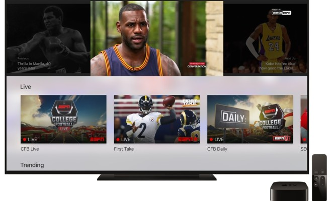 ESPN Adds 'MultiCast' to its Apple TV App
