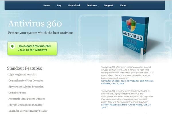 Contoh Antivirus Gadungan