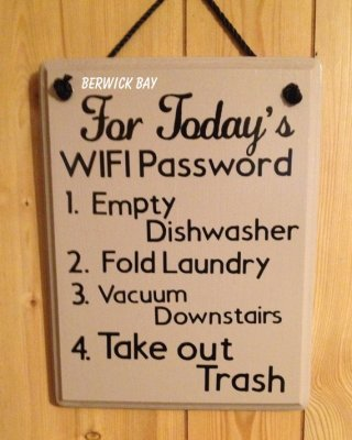 for today's wifi password