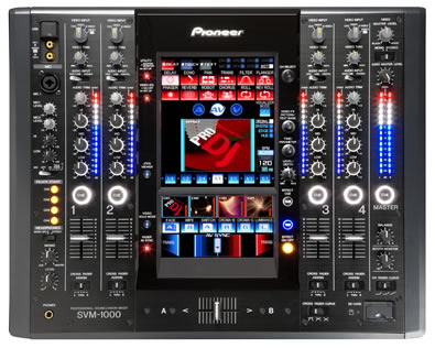 Pinoeer SVM-1000 DJ and VJ mixer previewed on The Technofile by MC Rebbe the Rapping Rabbi