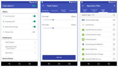 flshlight app notification android