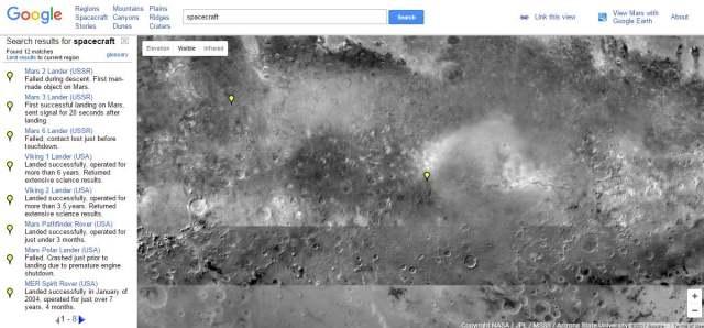 google mars google facts the tech toys