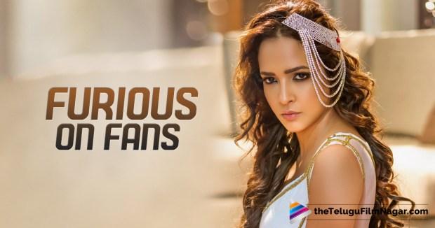 Manchu Lakshmi, Manchu Lakshmi angry on fans,