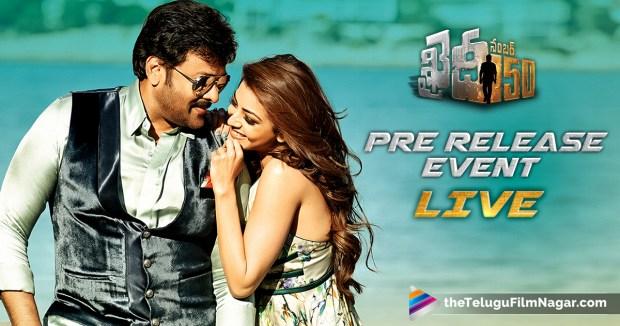Khaidi No 150 Pre Release Event Live,Khaidi No 150 Pre Release function Live