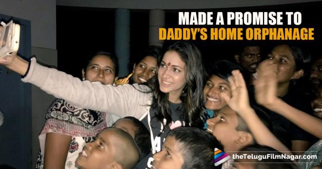 Lavanya Tripathi At Orphanage