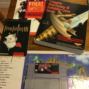 My assortment of FFVI guides along with the original game, complete with booklet AND map!