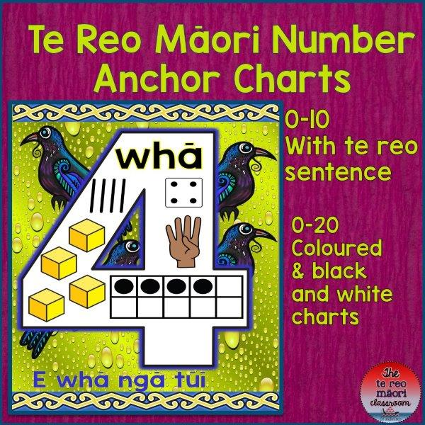 te reo number anchor charts