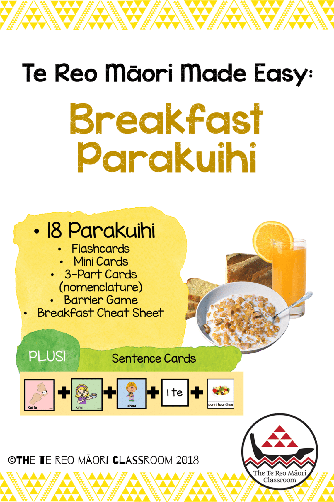 Learn some te reo parakuihi (breakfast) words at home or at school. Heaps of activities to extend your reo. PLUS sentence cards to help with sentence structure and conversation.