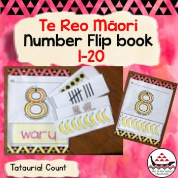 Te reo Māori Flip Book number recognition