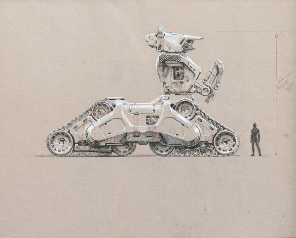 Concept art Hunter Killer Tank from The Terminator