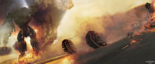 Moto Terminator Chase Concept Art