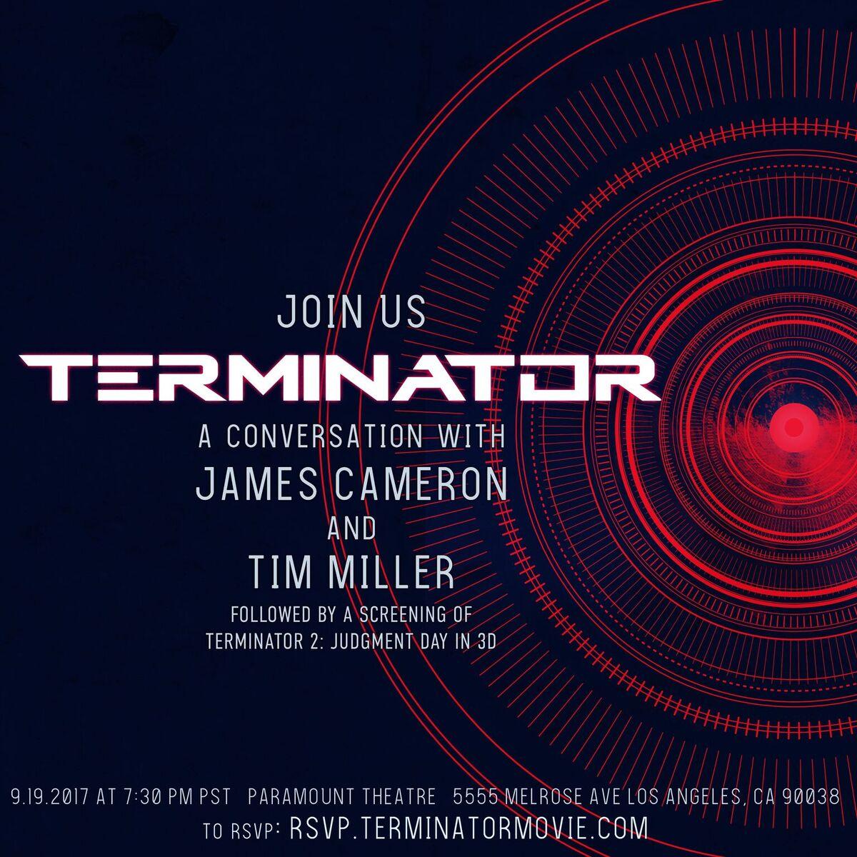 Terminator 6 Event James Cameron Tim Miller Paramount