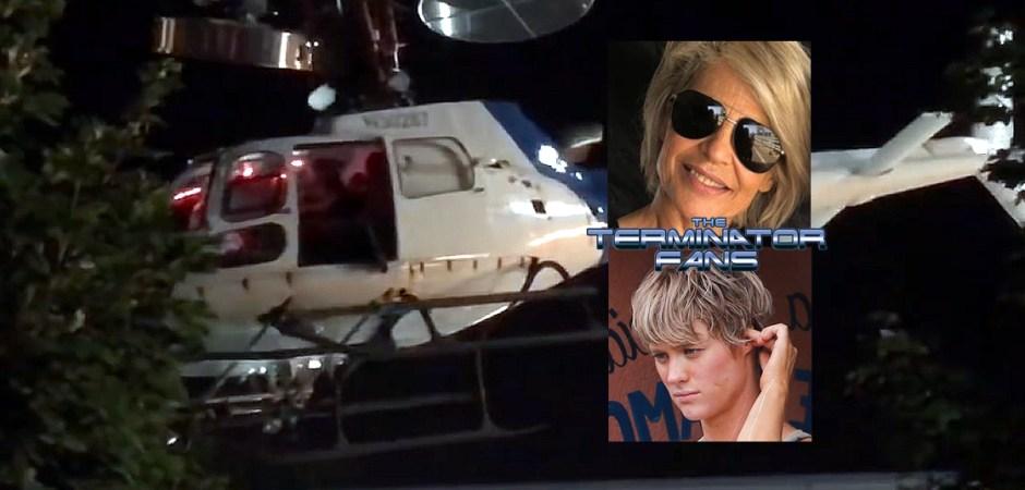 Terminator 6 Helicopter Linda Hamilton Mackenzie Davis