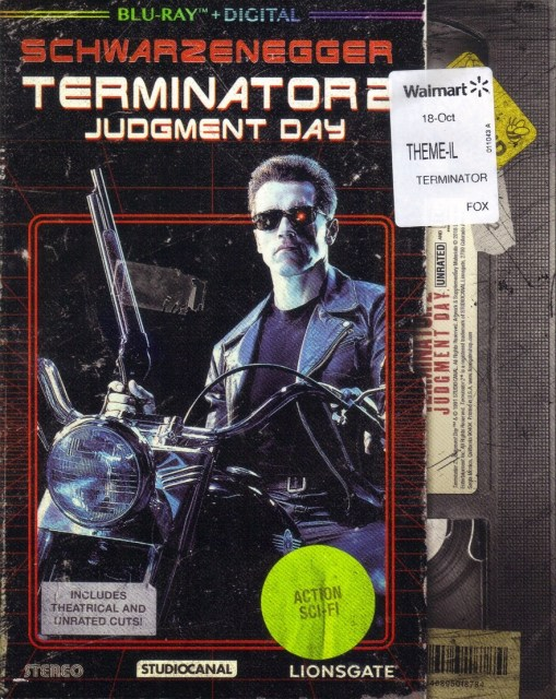 Walmart Exclusive Terminator 2: Judgment Day: Blu-Ray VHS Slip