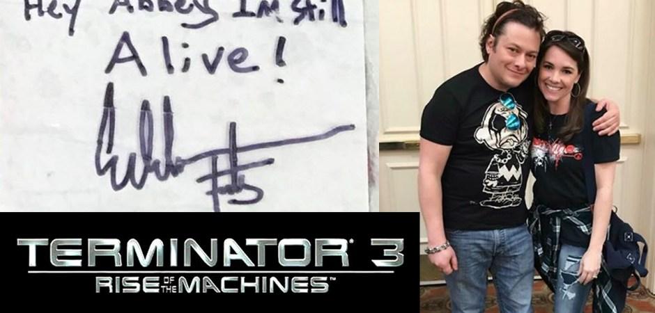 Terminator Fan Abbey Tewson Johnson Meets Edward Furlong