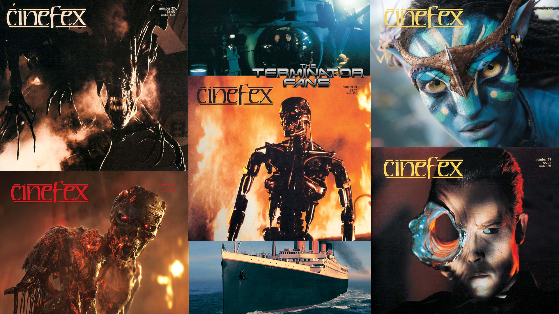 Cinefex James Cameron Movies Terminator Covers