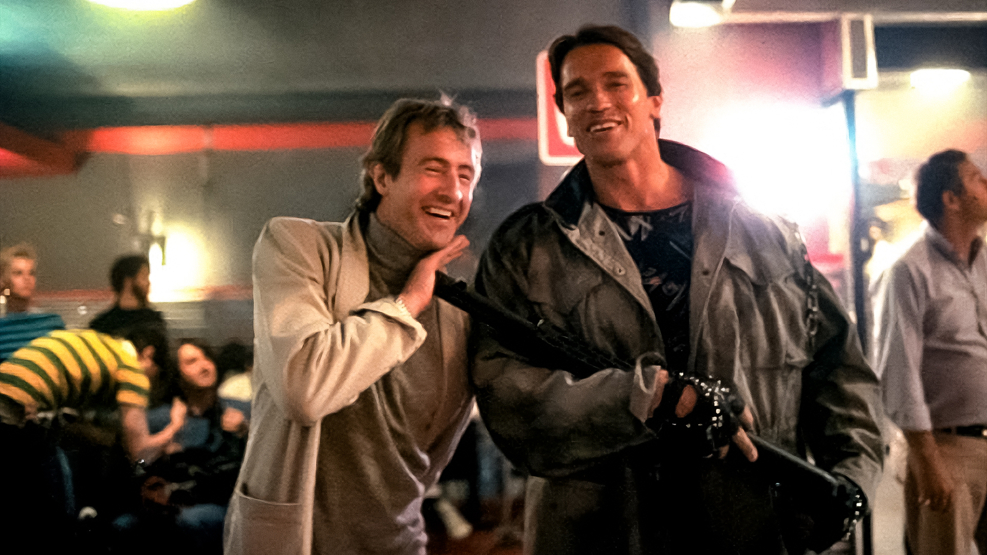 The Terminator Behind The Scenes Executive Producer John Daly and Arnold Schwarzenegger